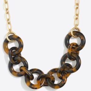 J. Crew tortoise chain link statement necklace